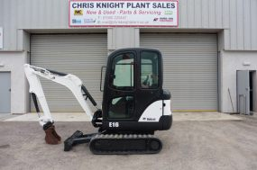 Bobcat E16 Yr 2012 comes with 3 new buckets
